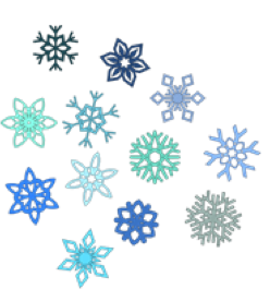 snow-flakes-colored